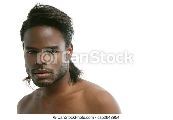 African american cute black young man portrait - csp2842954