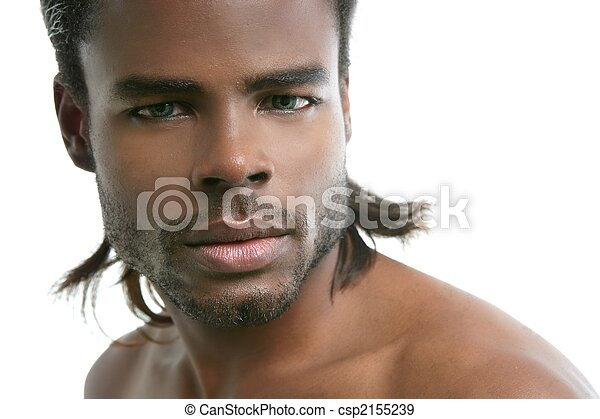 African american cute black young man portrait - csp2155239