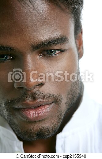 African american cute black young man portrait - csp2155340