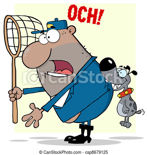 African American Dog Catcher - csp8679125