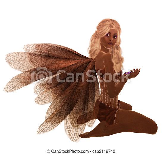 African American Fairy - csp2119742