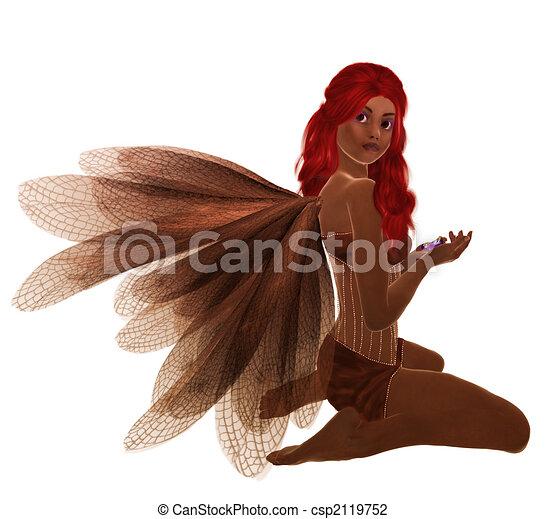 African American Fairy - csp2119752