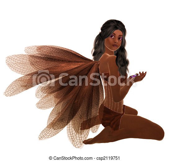 African American Fairy - csp2119751