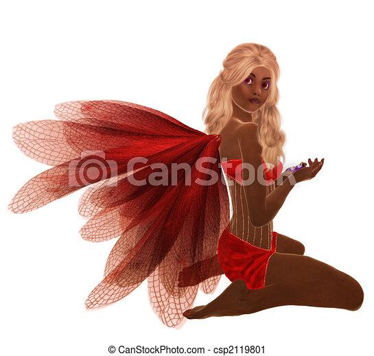 African American Fairy - csp2119801