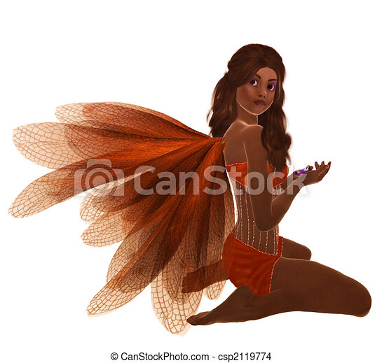 African American Fairy - csp2119774