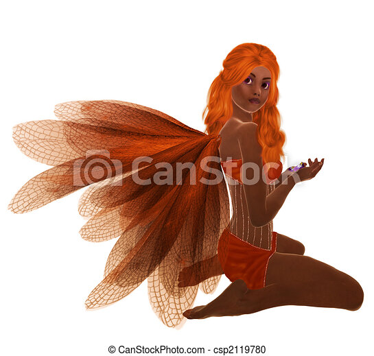 African American Fairy - csp2119780