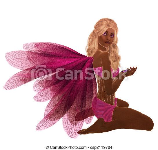African American Fairy - csp2119784