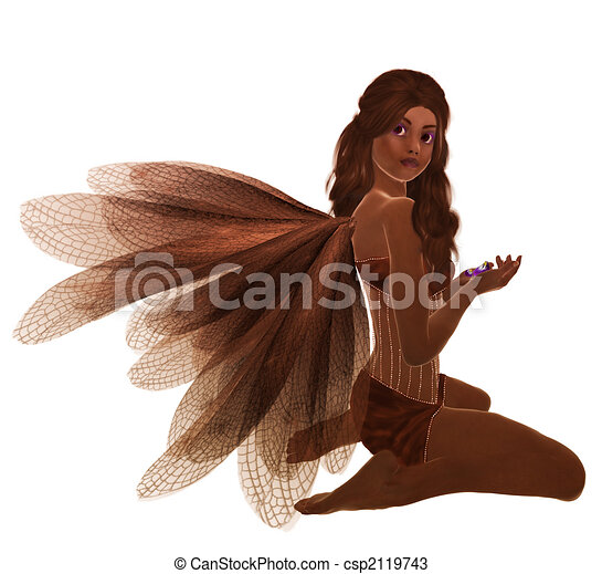 African American Fairy - csp2119743