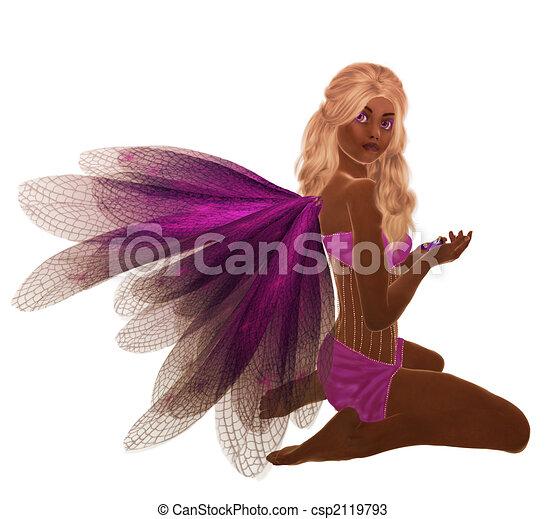 African American Fairy - csp2119793