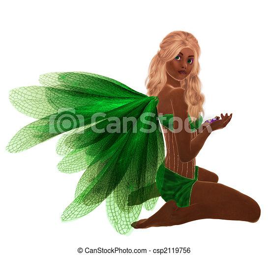 African American Fairy - csp2119756