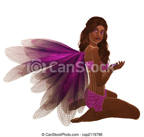 African American Fairy - csp2119796