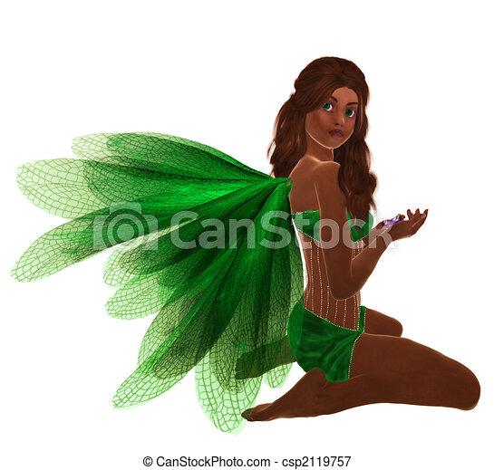 African American Fairy - csp2119757