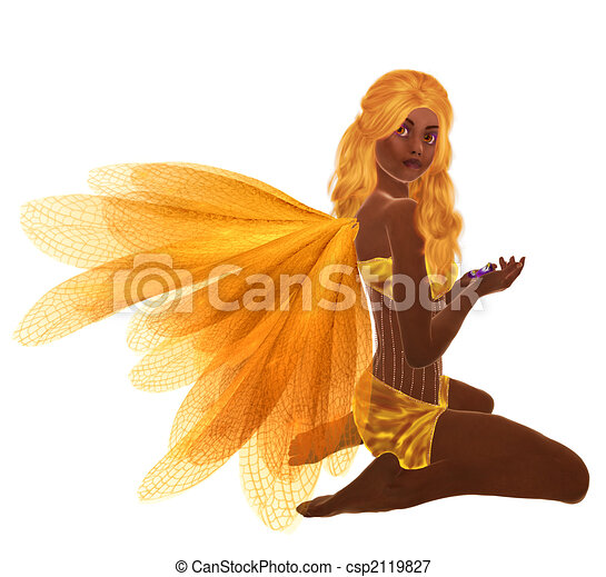 African American Fairy - csp2119827