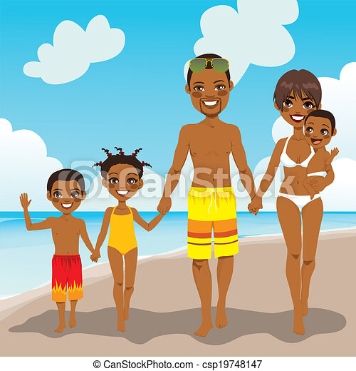 African American Family Beach Vacation