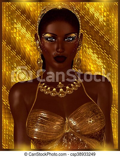 African American Fashion Beauty Abstract Perfect For Expressing