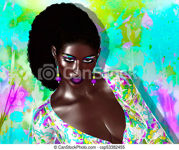 African American Fashion Beauty. - csp53382455
