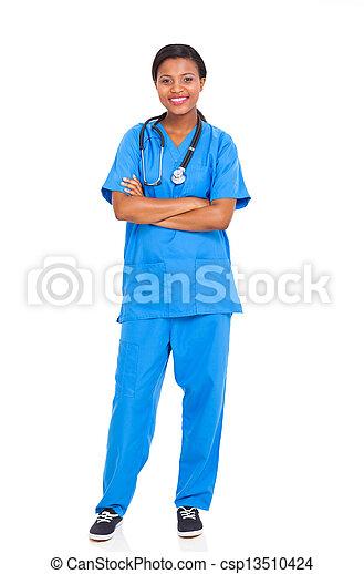 african american female intern nurse - csp13510424