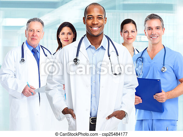 African american medical doctor man. - csp25484177
