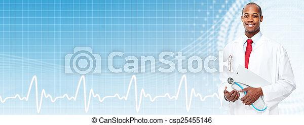 African american medical doctor man. - csp25455146