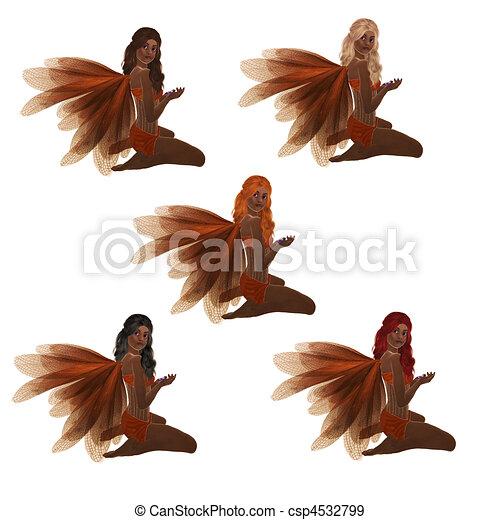 African American Orange Fairy - csp4532799