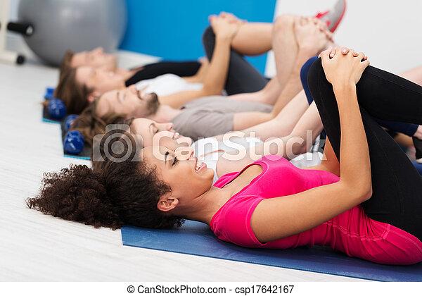 African American woman doing aerobics - csp17642167