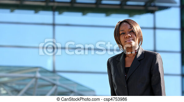 African american woman in office - csp4753986