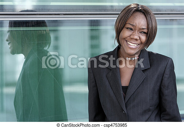 African american woman in office - csp4753985