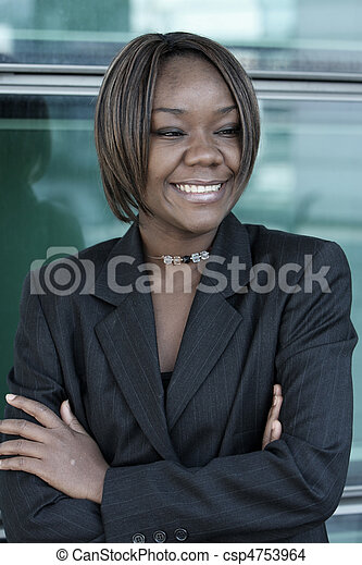 African american woman in office - csp4753964
