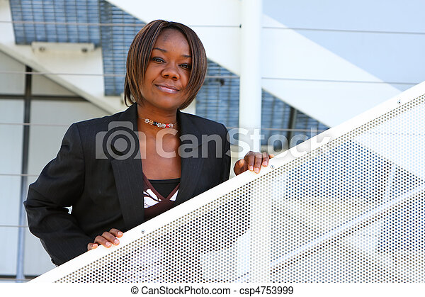 African american woman in office - csp4753999