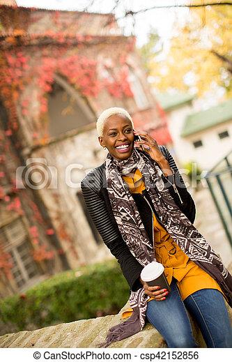 African american woman outdoor - csp42152856