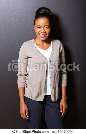 african american woman portrait - csp19470904