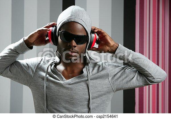 African american young black man rap - csp2154641