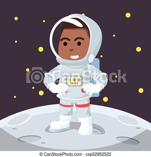 African astronaut on moon - csp52952522