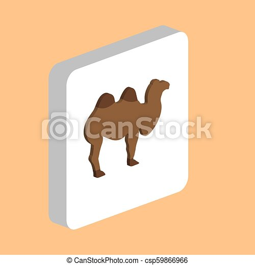African Bactrian Camel computer symbol for your business project - csp59866966