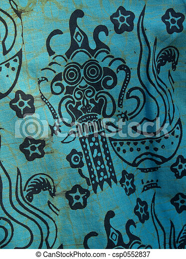 African Batik Print Cotton Shirt Detail - csp0552837