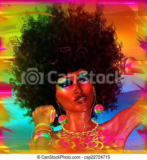 African Beauty with Afro - csp22724715