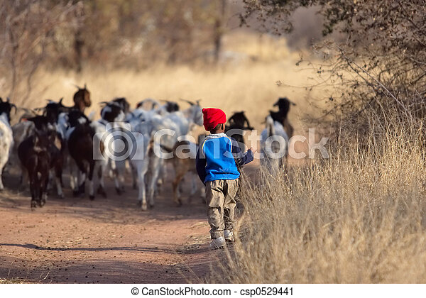 African boy - csp0529441