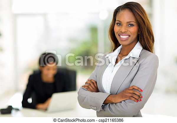 african business woman in office - csp21165386