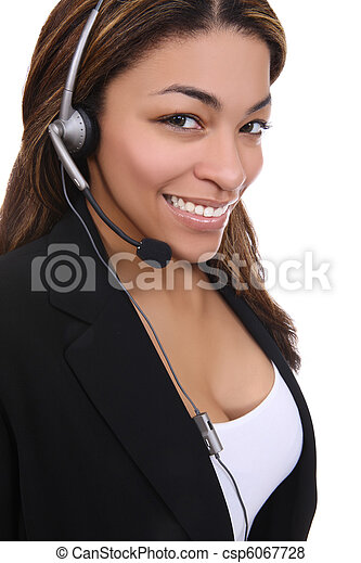 African Business Woman on the Phone - csp6067728