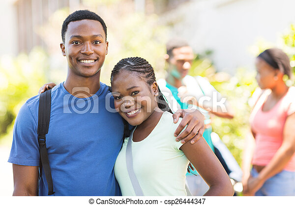 african college couple - csp26444347