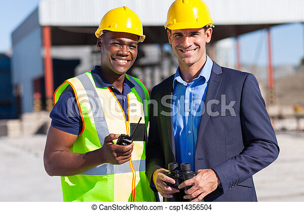 african construction worker and manager - csp14356504