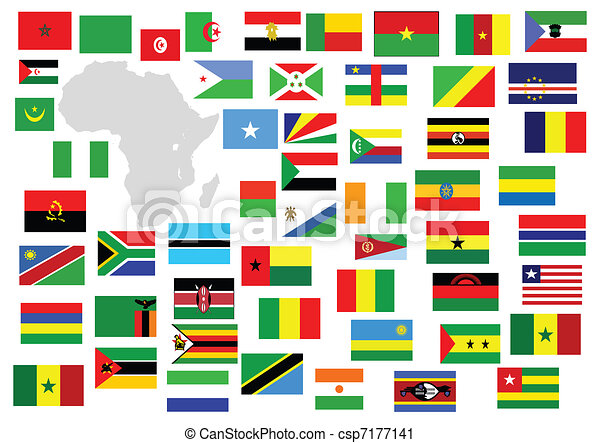 African Continent With Country Flags   Csp7177141