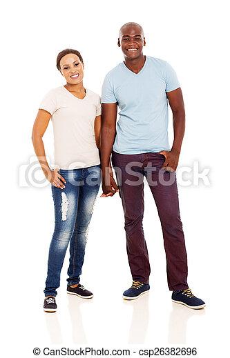 african couple full length portrait - csp26382696