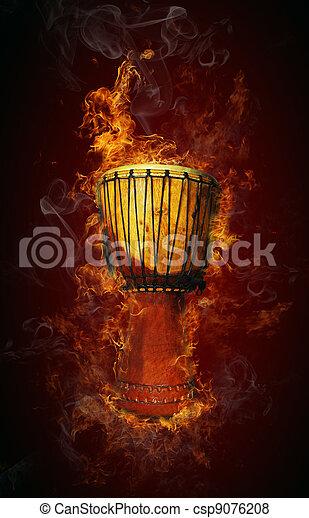African drum - csp9076208
