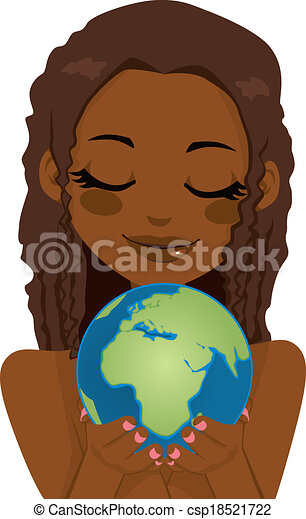 African Earth Woman - csp18521722