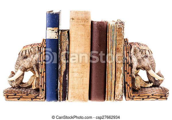 African elephant bookends - csp27662934