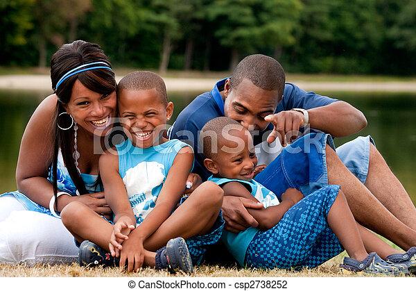 African family having fun - csp2738252