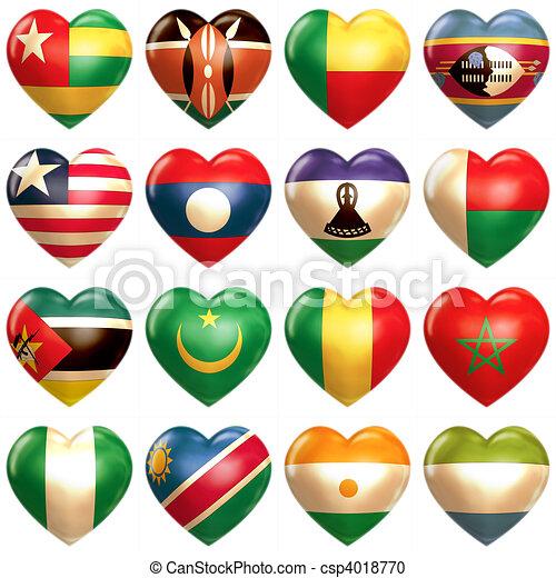 African Hearts  - csp4018770