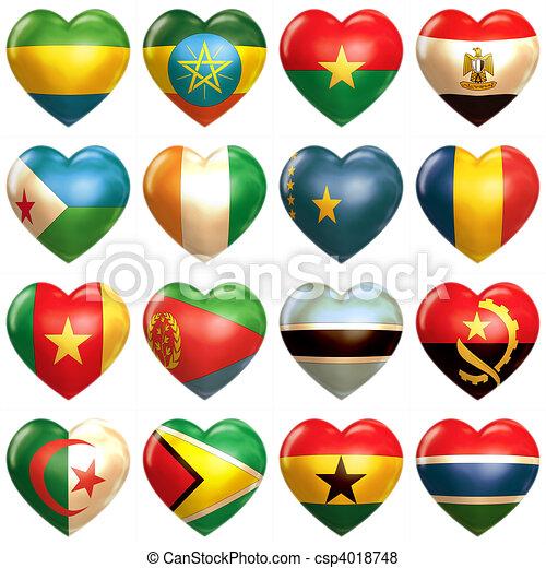 African Hearts  - csp4018748