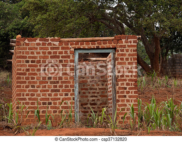 African House House Made Of Bricks